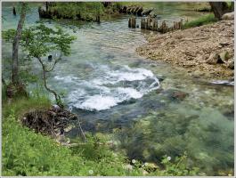 У старой плотины