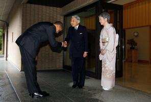 Обама  и японский император Акихито