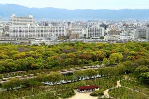Пейзаж города Осака