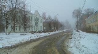 Город в мартовских туманах.