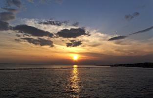 закат над Тирренским морем...