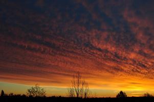 Окрасило небо багрянцем
