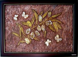 Оливковая ветвь (рельеф, роспись)