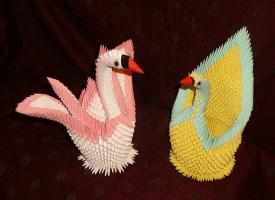 Лебеди (оригами)