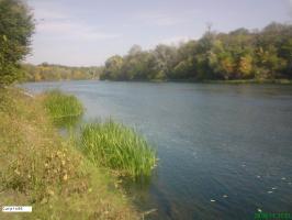 Река Северский Донец, осень
