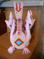Дракончик -оригами