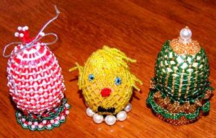 оплетенные яйца