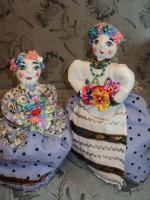 Куклы - грелки на чайник