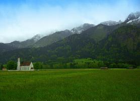 Туманы в горах Чехии