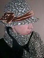 шляпа и шарф крючком