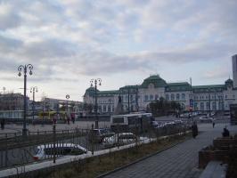 Вокзал и привокзальная площадь г.Хабаровска
