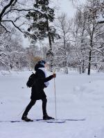 В школу на лыжах ....