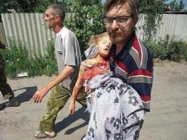 """Смерть """"сепаратистки"""": девочка, погибшая в Новороссии. Смотреть и помнить!"""