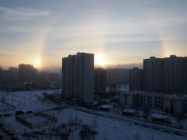 Зимняя радуга в Москве