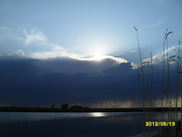 Вечер на озере .