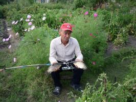 После рыбалки на даче