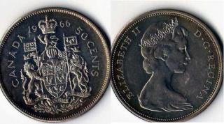 50 центов. Канада. 1966г.