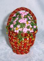 """Пасхальное яйцо """"Корзинка с цветами"""""""