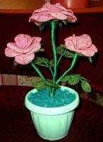 Бисерная роза