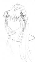 Эскиз причёски