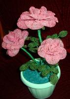 Бисерная роза (другой ракурс )