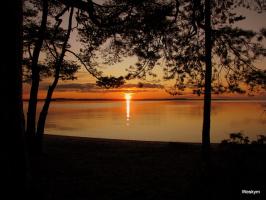 Закат в Карелии. Сентябрь 2009г