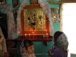 Старинная икона Антония и Феодосия Киево-Печерских, пожертвованная неизвестным