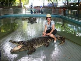Таиланд, на крокодиле верхом