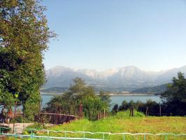 Озеро в Доламитовых Альпах
