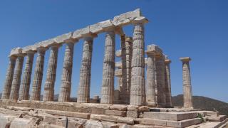 храм посейдона, мыс сунион, греция, июль 2016