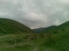Вессение горы в Казахстане  под Алматы