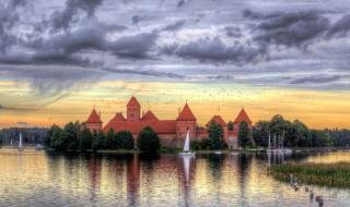 Озеро Гальве, г. Тракай, Литва