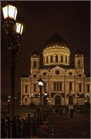 Прогулки по ночной Москве. На Патриаршем мосту.