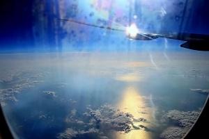 За окном самолёта - фантастический мир!