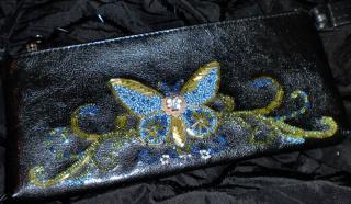 Сумочка - клатч с бисерной бабочкой!