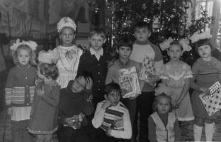 После Новогодней ёлки в столовой АТП. 1987 г.