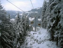 После снегопада в горах
