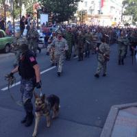 Ополченцы провели по центру Донецка пленных силовиков