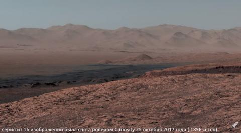 Панорамная съемка Марса от NASA (февраль 2018)
