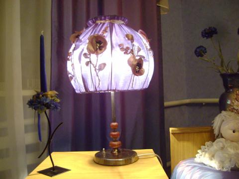 Декор настольного светильника своими руками 76