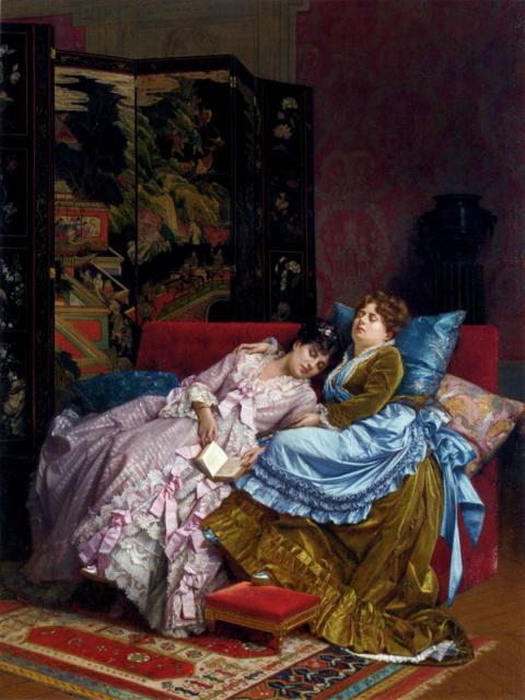 Французский художник Огюст Тульмуш (1829-1890) и его картины