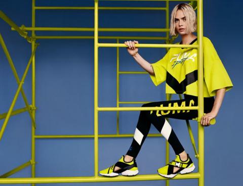 Кара Делевинь (Cara Delevingne) в фотосессии для рекламной кампании Puma Muse CUT-OUT (2018)