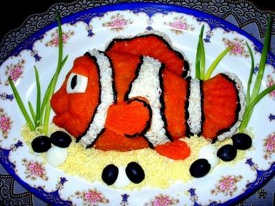 Рыбный салат.