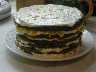 Мой печёночный тортик