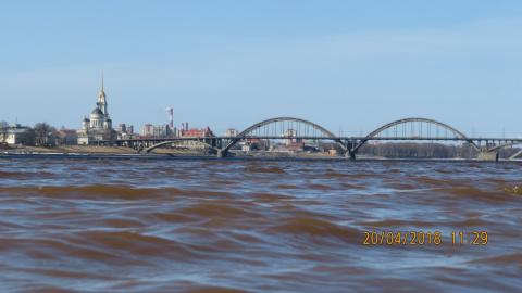 Волны на Волге г Рыбинск .