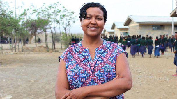 Her work has helped thousands of girls stay in school and finish their education
