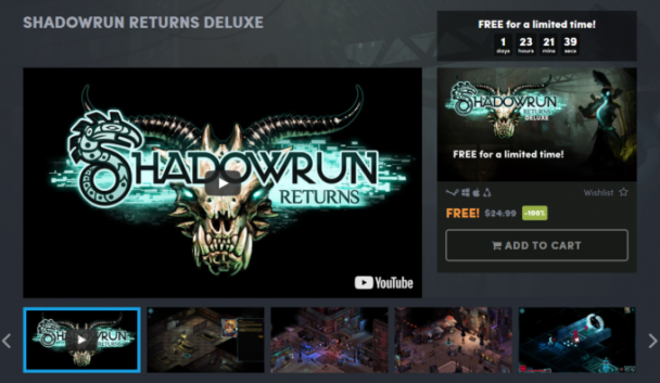 Humble Bundle раздает Shadowrun Returns Deluxe
