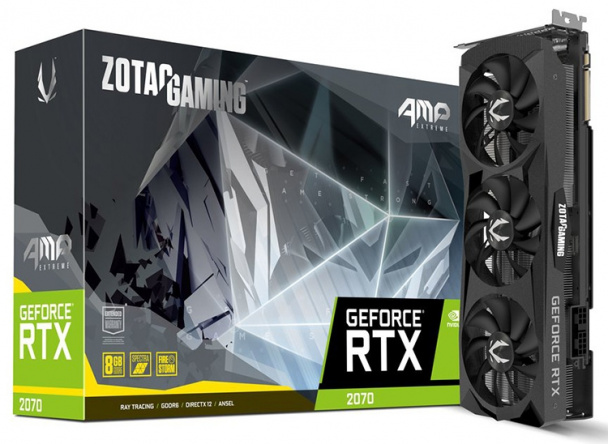 ZOTAC представила видеокарты GeForce RTX 2070 AMP и AMP Extreme