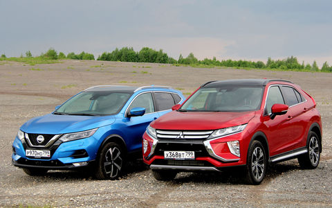 Nissan Qashqai vs Mitsubishi Eclipse Cross: японская разборка