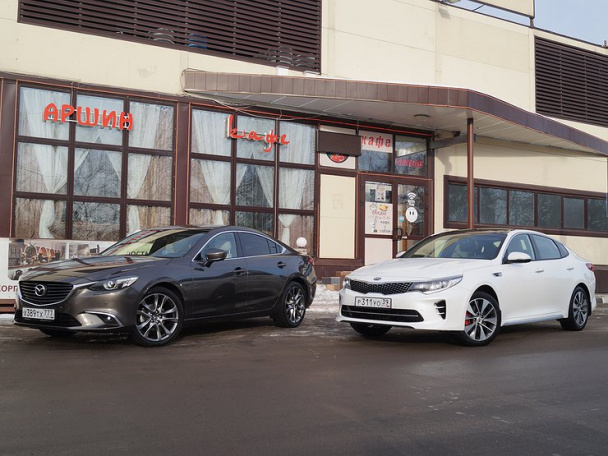 KIA Optima vs Mazda6: для тех, кто понимает в Toyota Camry